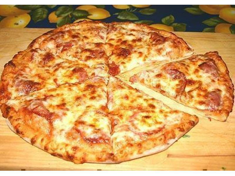 Быстрая пицца на сковороде рецепт без сметаны и кефира